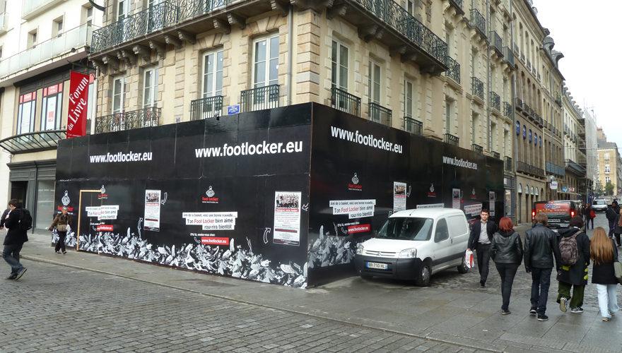 Habillage palissade extérieure Rennes